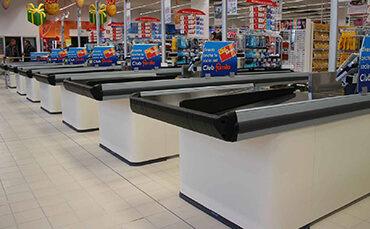 checkout counters