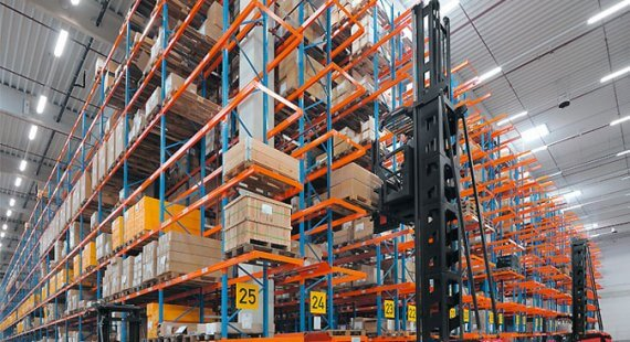 Very narrow aisle racking