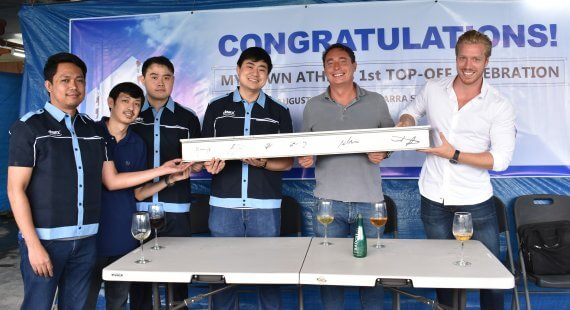 Devex and PULS signs MyTown Athens ceremonial beam